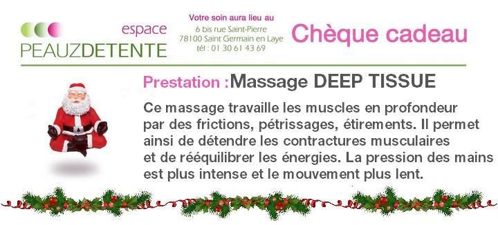 Chèque cadeau Noel 2015 massage DEEP TISSUE_s