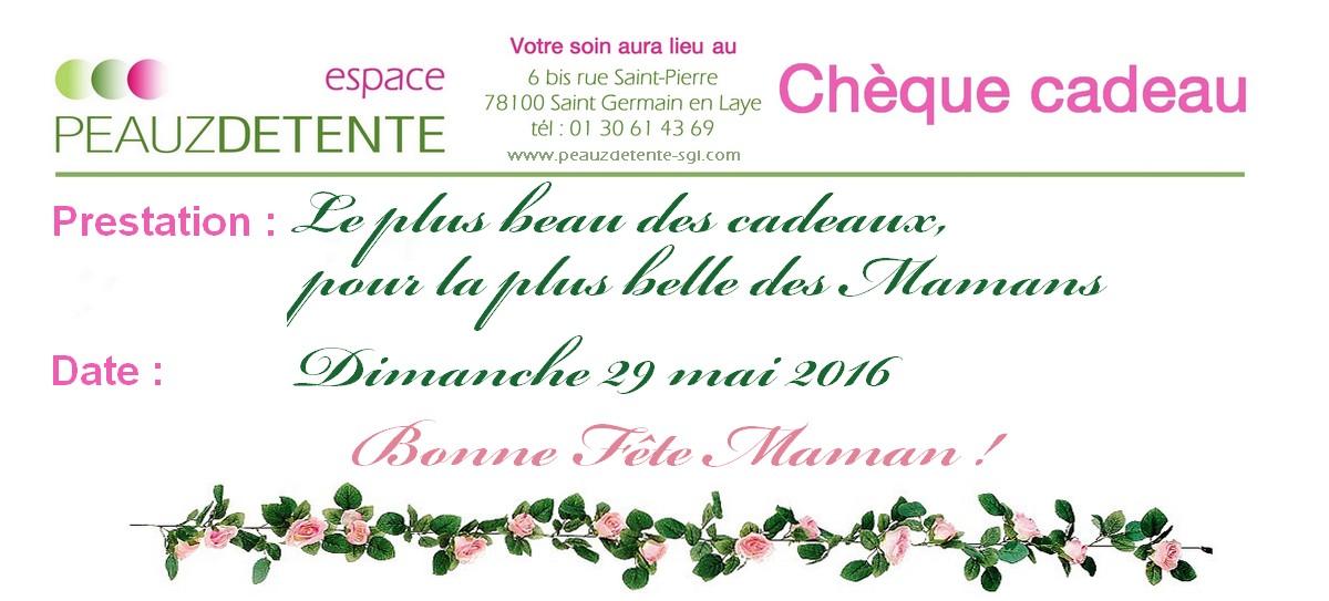 Chèque cadeau Fête des Mères 2016
