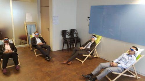 Séance de relaxation au travail avec PSiO
